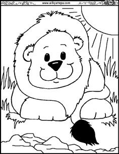 http://www.silkysteps.com/Resources-for-play/Activities/Printables/Colouring-blackline/animal-colouring-preschool-craft-images/lion-round-face-colouring.gif