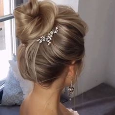 hair bridesmaid hair styles for long hair down hair flower hair veils wedding hair wedding hair hair jewellry hair clip Ponytail Hairstyles, Wedding Hairstyles, Hairstyles Videos, Brides Hairstyles Updo, Ponytail Updo, Instagram Hairstyles, Baddie Hairstyles, Homecoming Hairstyles, School Hairstyles