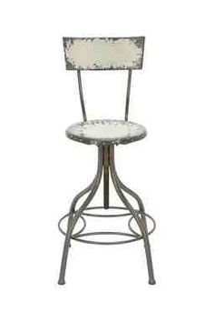 Distressed Round Bar Stool-hautelook.com