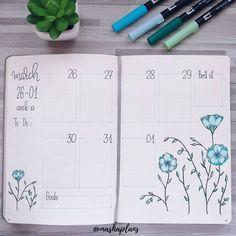 MashaBuJo (@mashaplans) / Последняя неделя марта, украшенный цветком льна. Last March weekly decorated by flax flowers