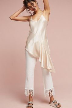 Shop our sale on women's clothing at Anthropologie and fill your closet with fashionable essentials that will turn heads everywhere you go! Silk Top, Blouses For Women, Anthropologie, Womens Fashion, Fashion Trends, Cold Shoulder Dress, My Style, How To Wear, Outfits