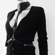 Naturel Leather Harness Women Body Harnes Leather by blackmotifa