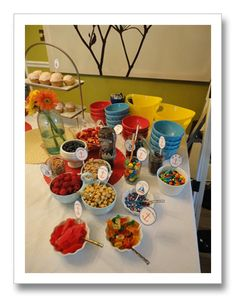 a brighter twist to nautical themed baby shower (happened to be thrown for a baby girl)