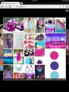 Turquoise, purple and fuschia ((love love))