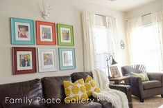 Need to hang some family photos? here is an idea on how to arrange them art for you home.