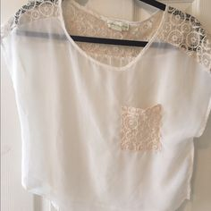 Urban outfitters sheer tank So cute hardly worn Urban Outfitters Tops Crop Tops