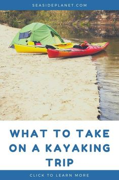 What to take on a kayaking trip depends on the type of paddling adventure you're undertaking. If you are heading out for the day, it's calm, and you will be near shore, minimal gear is required. Kayaking Quotes, Kayaking Tips, Whitewater Kayaking, Canoeing, Camping Water, Kayak Camping, Camping Toys, Camping List, Camping Hacks