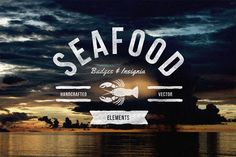 Seafood Badges & Insignia by TSV Creative on @creativemarket