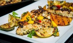 Home & Family - Recipes - Cristina Cooks Grilled Citrus Chicken With Mango Salsa And Israeli Couscous | Hallmark Channel