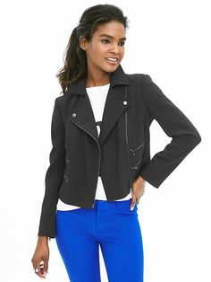 Multi-Zip Moto Jacket
