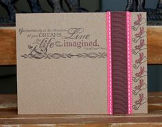 Pretty in pink graduation card.