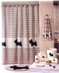 Scottie DOG Scotty Fabric Shower Curtain - Scottish Terrier by Creative Bath, http://www.amazon.com/dp/B000FGQ0W6/ref=cm_sw_r_pi_dp_xph7pb0TJ095J
