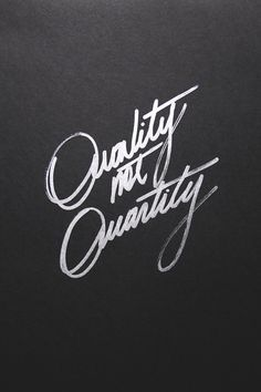 Quality not Quantity--my new photo, in life + photography