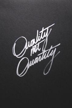 How To Shop: Quality over Quantity.
