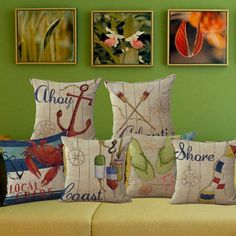 Welcome to our Crab Shack Local Crabs Lobsters Ahoy Atlantis Coast To The Ocean Cushion Covers for Sea Lovers
