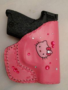 OWB Custom Leather Purse Gun Holster Conceal by PinkPistolHolsters, $39.95
