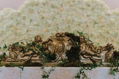 Royalty Wedding - Gold / Bronze Decor - Vintage , Antique, Royal, Elegant design - Flower Wall, Angel Sulpture by Satori Art & Event Design Victorian Wedding Decor, Angel Sculpture, Gold Wedding Decorations, Flower Wall, Event Design, Wedding Designs, Wedding Details, Royalty, Bronze