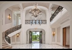 Inside the Stone Mansion, Alpine, NJ...  It has 12 bedrooms, 19 bathrooms, a ballroom with coat check closet, and an indoor basketball court equipped with locker rooms and scoreboard.   OH MY!!!