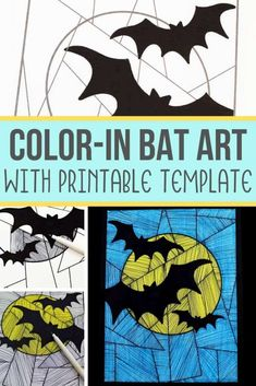 This line art paper bat craft for kids is the perfect Halloween craft! All you need are a few simple supplies and this craft will be done in no time. Halloween Class Party, Halloween Kids, Halloween Crafts, Art For Kids, Crafts For Kids, Craft Kids, Kids Diy, Paper Bat, Bat Craft