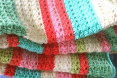 Star Stitch crocheted blanket - love the colors on this afghan. You can find the Star Stitch here > http://pinterest.com/pin/57350595224890678/