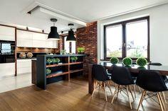 Home Decor Kitchen, Kitchen Interior, Open Kitchen, Kitchen Dining, Dining Room, Interior Decorating, Interior Design, Living Styles, Loft