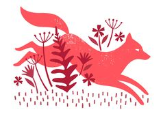Lucy Davey ~ Fox Screen Print