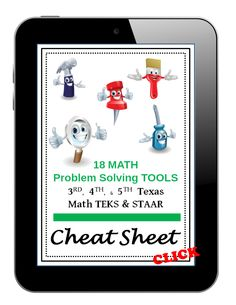 Math Problem Solving Strategies Cheat Sheet for and Grade Math Teachers. 18 Math Problem Solving Strategies to help solve word problems. Math Strategies, Instructional Strategies, Math Resources, Math Lesson Plans, Math Lessons, Math Problem Solving, Effective Teaching, Math Problems, 5th Grade Math