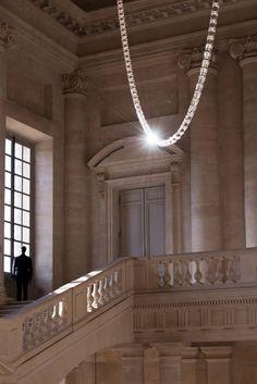 Gabriel Chandelier at the Château de Versailles by Ronan and Erwan Bouroullec.