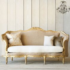 Eloquence One of a Kind Vintage Daybed Louis XV Mahogany #laylagrayce