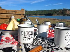 Tazas de acero esmaltado @RETROPOT Mugs #coleccion #pisafuerte #pantano #mountain #food and #retropot