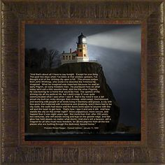 Shining City on a Hill By Todd Thunstedt 17.5x17.5 Portland Head Split Rock Maine Minnesota Wisconsin Door County Two Harbors Sherwood Point Lighthouse Maritime Sunrise Clouds Sky Rays Guiding Light Ship Fog Horn Lake Ocean Sea Marker Beacon Framed Art Print Wall Hanging Décor Picture ThunderMark Art and Graphics http://www.amazon.com/dp/B00VZLJAQS/ref=cm_sw_r_pi_dp_ZooGvb13EQ8YV