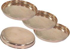 DakshCraft Handmade Dinnerset Hammered Copper Plate Set Price in India - Buy DakshCraft Handmade Dinnerset Hammered Copper Plate Set online at Flipkart.com