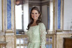 Princess Madeleine of Sweden. Pretty dress!!!