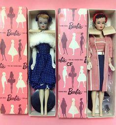 Vintage Barbie Dolls In Box Barbie Und Ken, Play Barbie, Barbie I, Barbie World, Barbie Dream, Vintage Barbie Kleidung, Vintage Barbie Clothes, Vintage Dolls, German Toys