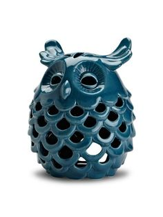 Amazon.com : Abbott Ceramic Owl Candle Lantern, Large, Dark Blue : Decorative Candle Lanterns : Patio, Lawn & Garden