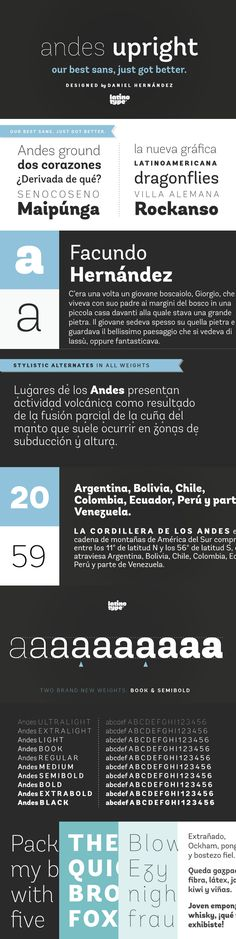 Andes Font by Latino Type | 22 Best Selling Gorgeous Fonts Mar 2015