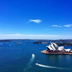This gorgeous view of the Opera house and harbour can be seen from the Sydney Harbour Bridge  (ps it's finally the weekend! ) #beautiful #sydney #harbour #australia #operahouse #sydneyharbourbridge #blue #sky  #clouds #ocean #nsw #happy #peaceful #travel #backpacking #adventure #city #sun #summer #fun #photography #nature #naturelovers by towerfourtyone http://ift.tt/1NRMbNv