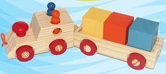 Mini Trem de Brinquedo Cubos - Brinquedice