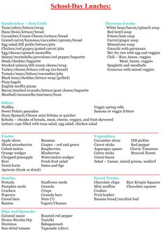 List for packing preschool lunch Kids Lunch For School, School Snacks, School Days, Lunch Ideas For Kids, Packing School Lunches, Work Lunches, Lunch Menu, Lunch Snacks, Healthy Lunches