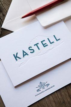 Carte de correspondance luxe format 10x15cm sur papier coton 600g / letterpress…