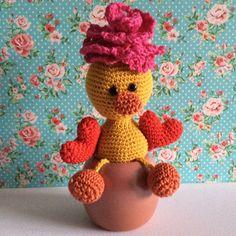 Amigurumi Duck in love Made by Kriziwizi@hotmail.com Http://Kriziwizi-com.webs.com