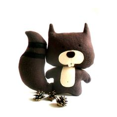 Squirrel stuffed toy soft toy rag doll squirrel softie by ZazoMini ($29) via Polyvore