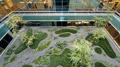 Interior garden in an office building in Madrid : Urquijo-Kastner
