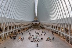 The Oculus - NEW YORK, USA - APRIL 24, 2017 - World Trade Center is a terminal station on the PATH system.The main station house, the Oculus, opened on March 4, 2016, and the terminal was renamed the World Trade Center