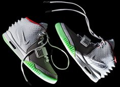 nike air yeezy 2. designed by kanye west. interestingly ugly. drops april 13. there's already a line outside the beverly center. dudes camped out for weeks to be the first to drop $250 for these. really?