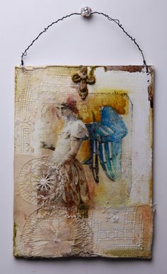 Fractured Angelics mixed media
