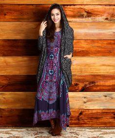 Another great find on #zulily! Purple Paisley Handkerchief Dress #zulilyfinds