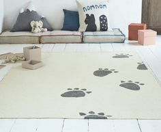 You wouldn't believe us if we told you that a run-in with a rogue bear led to this woven rug. Mainly because we'd be telling fibs.