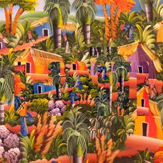 3) The art of Haiti is known for its brilliant colors, naive perspective, and sly humor. Artists also paint in fables. These artists enjoy to use symbols in their paintings. Some like to paint people disguised as animals and animals transformed into people. Each symbol symbolizes something different. For example, a rooster represents the red and blue colors of the flag of Haiti. Another form of art in Haiti is metal art.