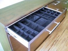 Velvet Jewelry Drawer Insert | California Closets